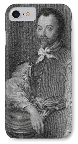 Sir Francis Drake, English Explorer Phone Case by Photo Researchers