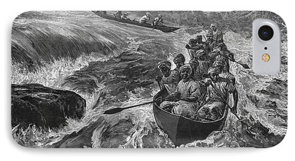 Sir Henry Morton Stanley (1841-1904). English Journalist And Explorer; Wood Engraving, 1880 Phone Case by Granger