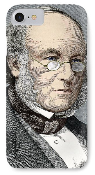 Sir Rowland Hill, Postal Reformer Phone Case by Sheila Terry