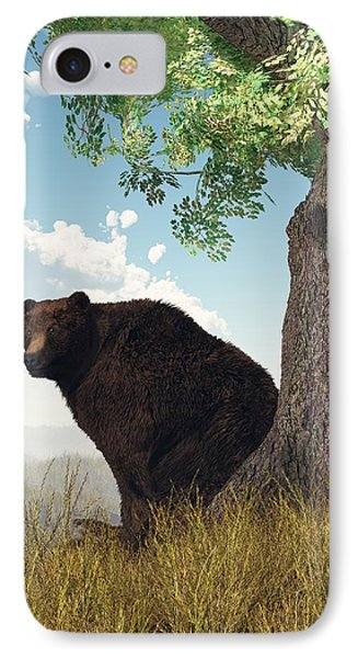 Sitting Bear Phone Case by Daniel Eskridge