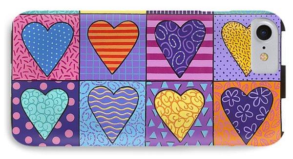 Sixteen Hearts Phone Case by Carla Bank