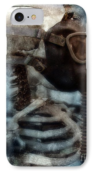 Skeleton In Gas Mask Phone Case by Jill Battaglia