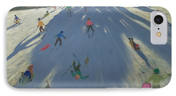 Skiing IPhone Case by Andrew Macara