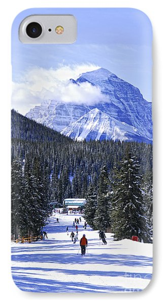 Skiing In Mountains Phone Case by Elena Elisseeva