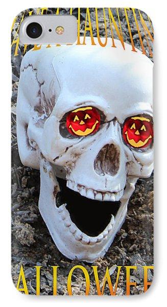 Skull Halloween Card Phone Case by Debra     Vatalaro
