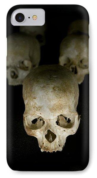Skulls Of Rwanda Genocide Victims IPhone Case by Tony Camacho