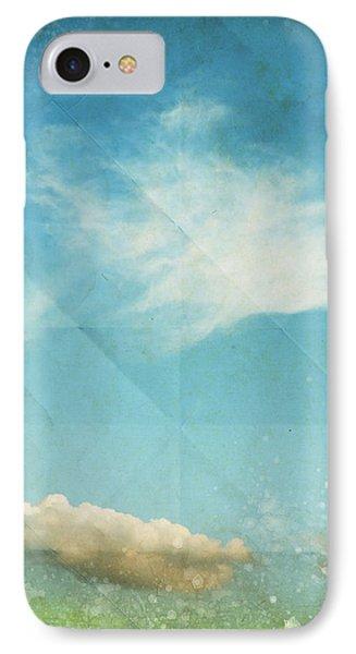 Sky And Cloud On Old Grunge Paper Phone Case by Setsiri Silapasuwanchai