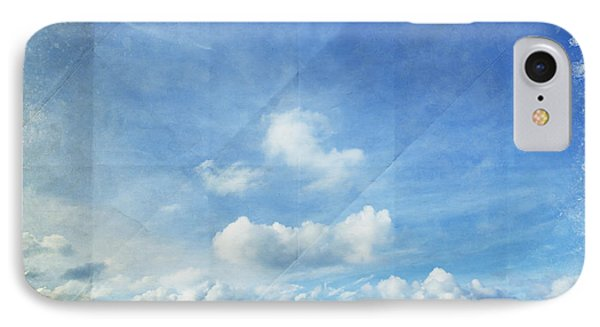 Sky And Cloud On Old Paper Phone Case by Setsiri Silapasuwanchai