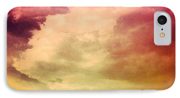 #sky #cary #colourful #clouds ☁ IPhone Case by Katie Williams