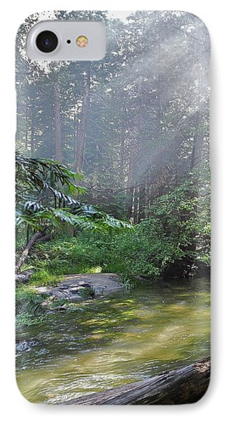 IPhone Case featuring the photograph Slanting Sunlight On River by Kirsten Giving