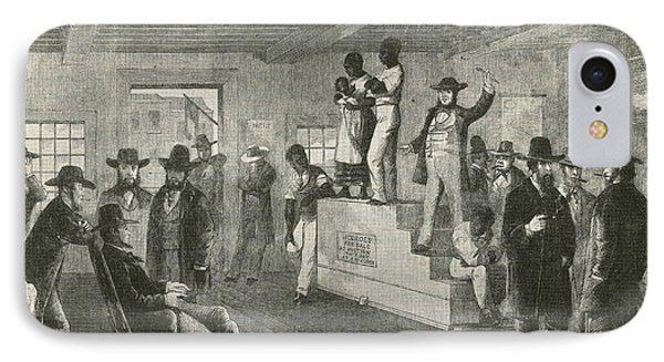 Slave Auction, 1861 Phone Case by Photo Researchers