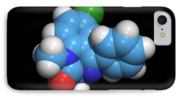Sleeping Pill Molecule Phone Case by Dr Tim Evans