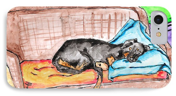 Sleeping Rottweiler Dog IPhone Case
