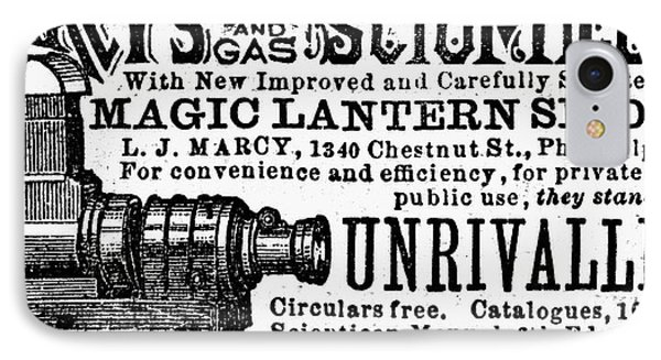 Slide Projector Ad, 1878 IPhone Case by Granger