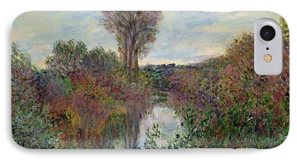 Small Branch Of The Seine Phone Case by Claude Monet