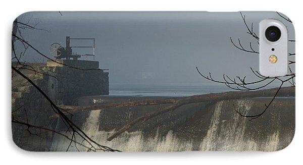 Small Dam In Fog IPhone Case