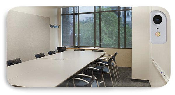 Small Empty Boardroom With A Long Phone Case by Marlene Ford