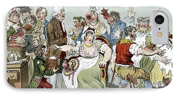 Smallpox Vaccination, Satirical Artwork Phone Case by
