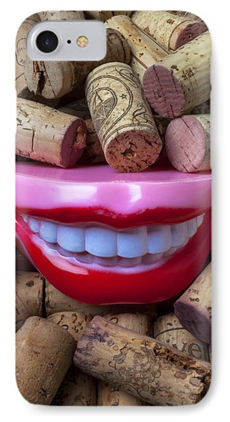Smile Among Wine Corks Phone Case by Garry Gay