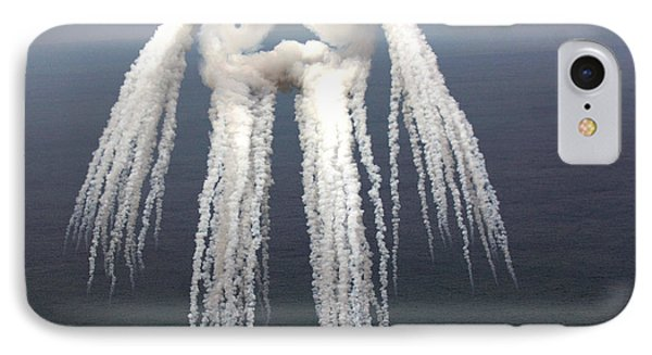 Smoke Angel Created By Wingtip Vortices Phone Case by Photo Researchers