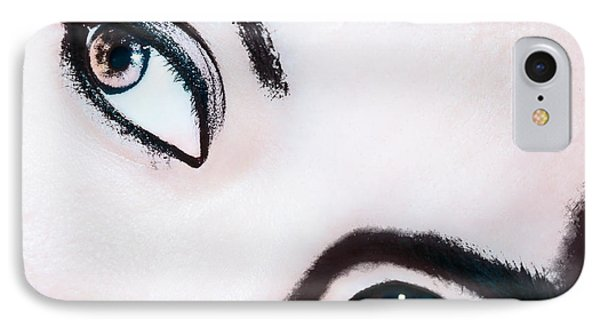IPhone Case featuring the digital art Smokey Eyes Of A Woman by Ester  Rogers