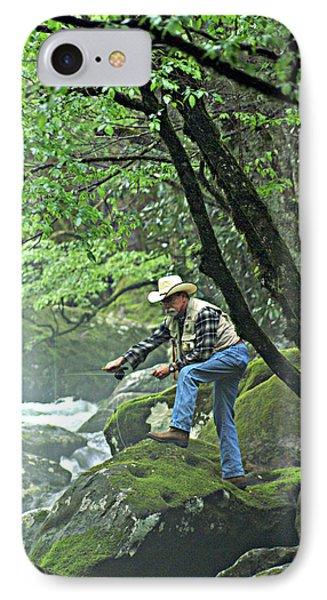 Smoky Mountain Angler Phone Case by Marty Koch