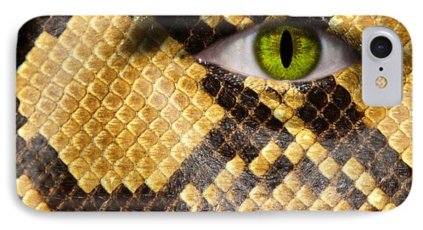 Snake Eye IPhone Case by Semmick Photo