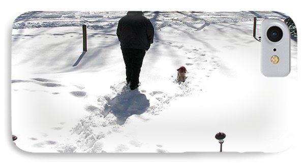 IPhone Case featuring the photograph Snow Buddies by Pamela Hyde Wilson