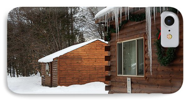 IPhone Case featuring the photograph Snow Covered General Store by Ann Murphy