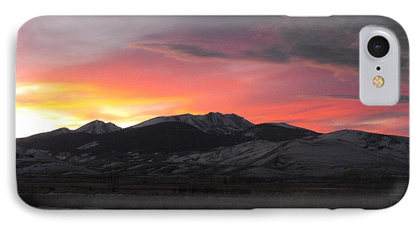 Snow Covered Mountain Sunset IPhone Case by Adam Cornelison