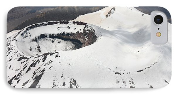 Snow-covered Ngauruhoe Cone, Mount Phone Case by Richard Roscoe