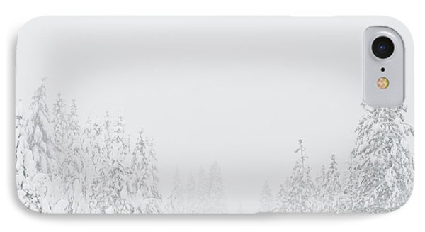 Snow-covered Rural Highway Phone Case by Dave & Les Jacobs