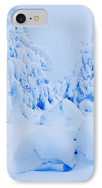 Snow-covered To Vallee Des Fantomes Phone Case by Yves Marcoux