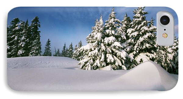 Snow Covered Trees In The Oregon Phone Case by Natural Selection Craig Tuttle