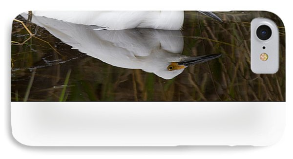 Snow Egret Reflection IPhone Case by Andres Leon