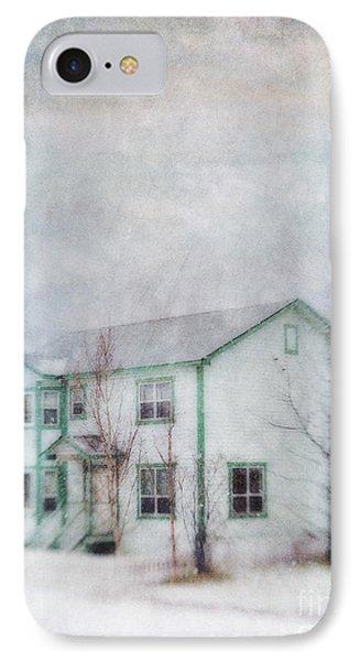 Snow Flurry 'round My Neighbor's House Phone Case by Priska Wettstein