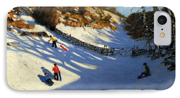 Snow In The Valley Phone Case by Andrew Macara
