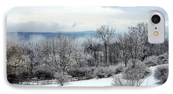 Snow In Winter Ithaca New York Phone Case by Paul Ge