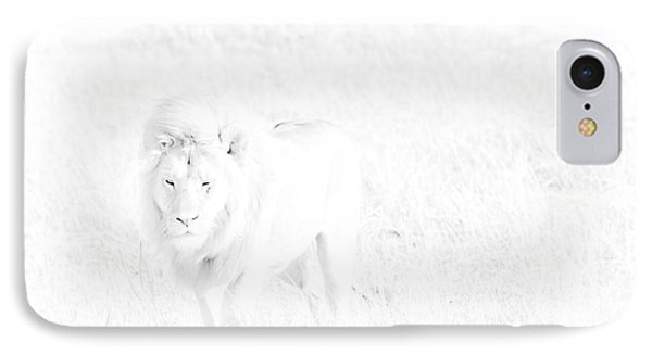 Snow Lion Phone Case by Darcy Michaelchuk