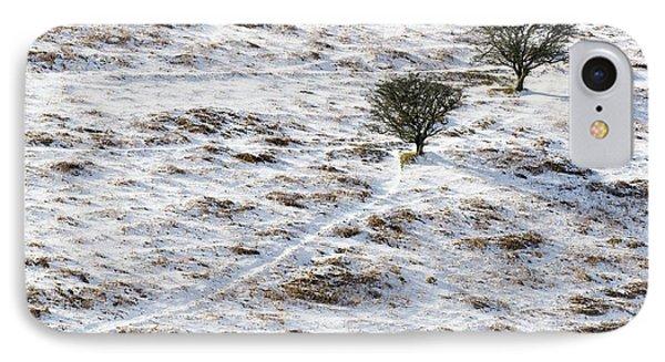 Snow On Moorland Phone Case by Adrian Bicker