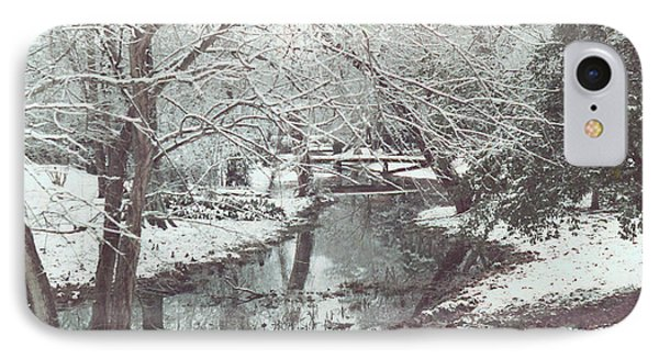IPhone Case featuring the photograph Snow On The Bayou by Louis Nugent