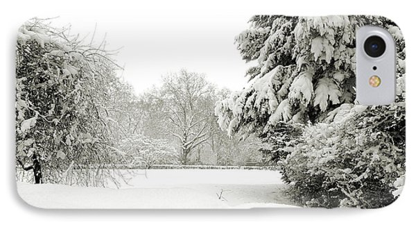 IPhone Case featuring the photograph Snow Packed Park by Lenny Carter