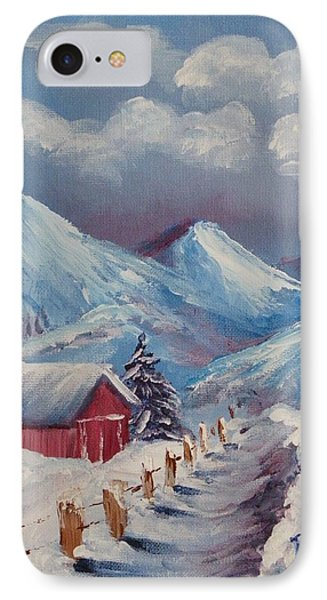 Snow Path Phone Case by Peggy King