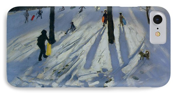 Snow Rykneld Park Derby IPhone Case by Andrew Macara