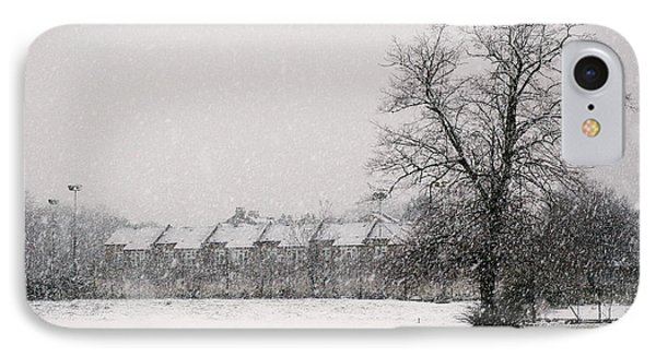 IPhone Case featuring the photograph Snow Scape London Sw by Lenny Carter