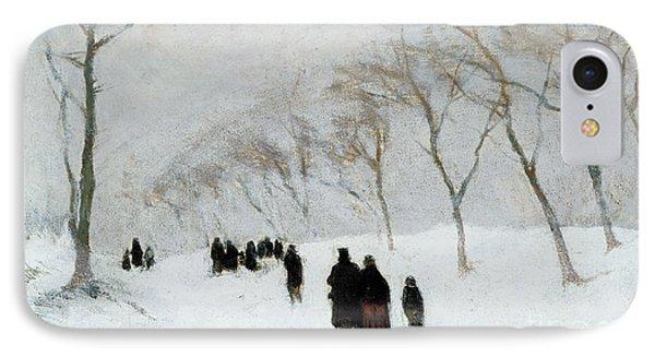 Snow Storm Phone Case by Anton Mauve