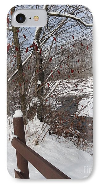 Snow Stream Phone Case by Meandering Photography