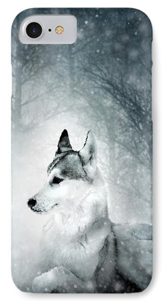 Snow Wolf Phone Case by Svetlana Sewell