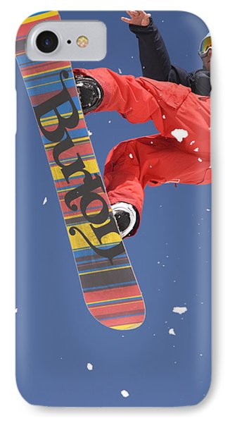 Snowboard Jumping On Vogel Mountain Phone Case by Ian Middleton