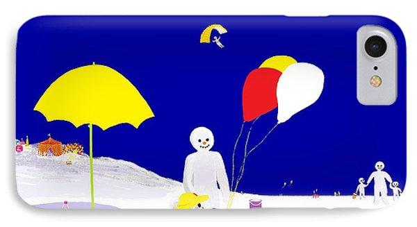 Snowman Family Holiday IPhone Case by Barbara Moignard